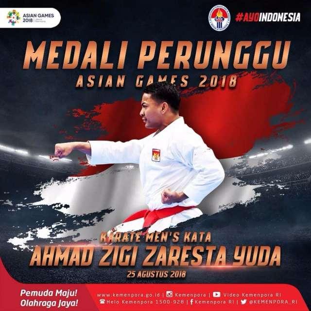 Ahmad Zigi Zaresta Yuda! Karate di nomor Mens's Kata