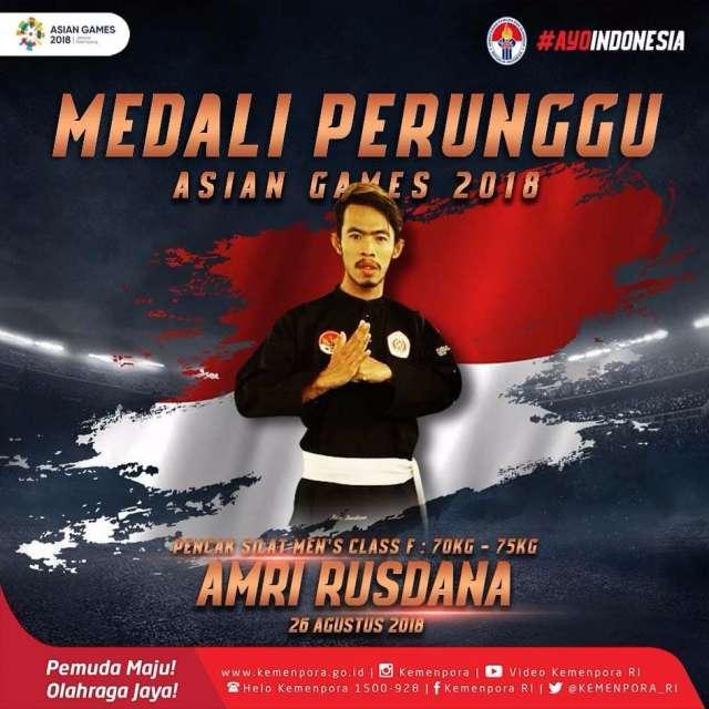 Amri Rusdana berhasil mempersembahkan medali perunggu untuk Indonesia