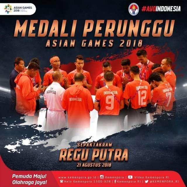 tim sepaktakraw regu putra Indonesia